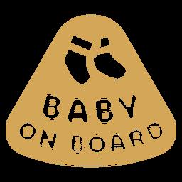 Insignia bebé a bordo