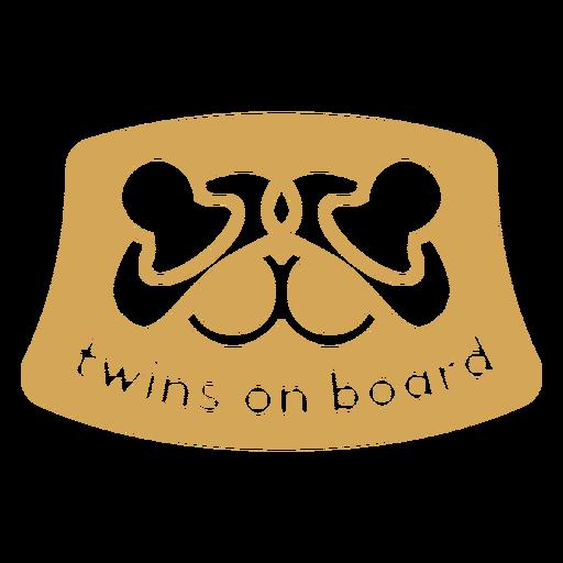 Twins on board badge