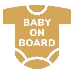 Baby on board shirt badge