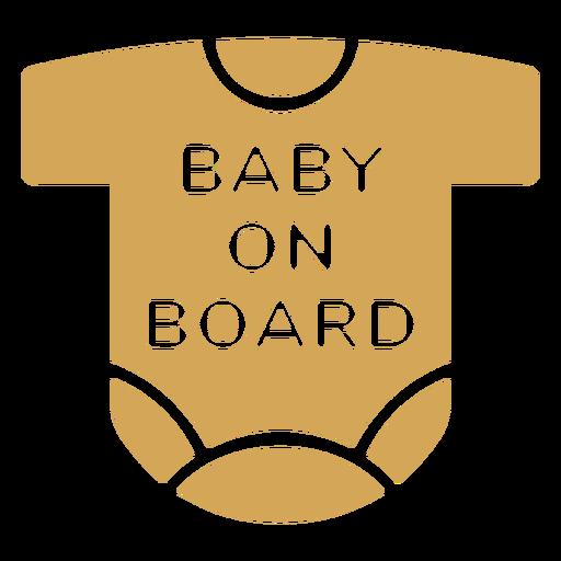 Insignia de camiseta de bebé a bordo