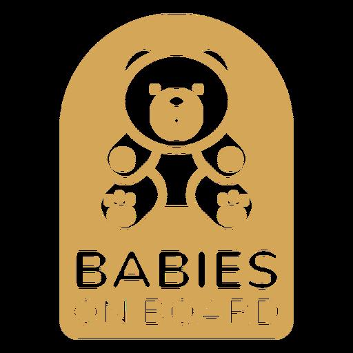 Bebês com crachá a bordo