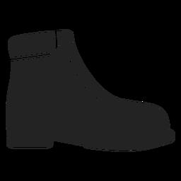 Man's shoe silhouette