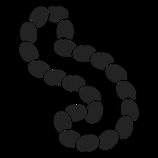 Silhueta de colar de pérolas