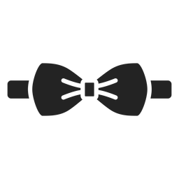 Bow tie accesory silhouette