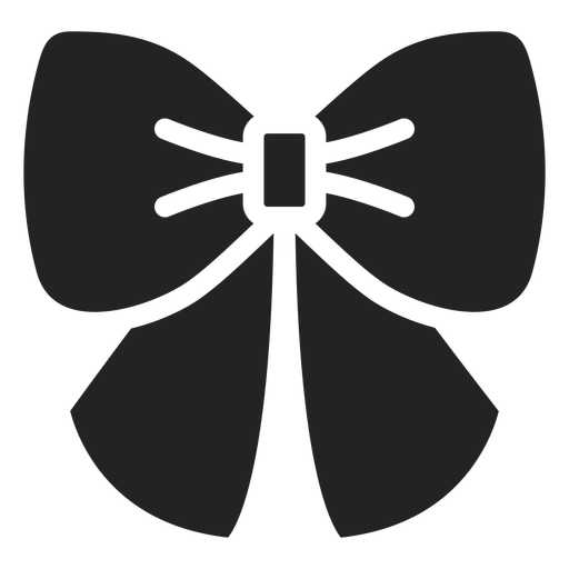 Ribbon accesory silhouette