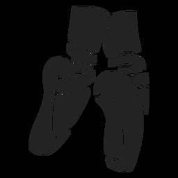 Corte de zapatos de ballet