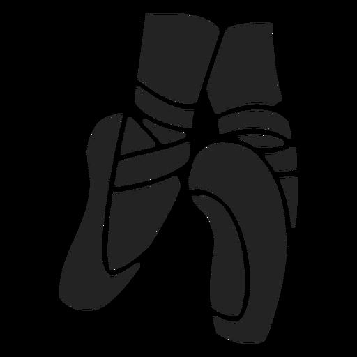 Ballet shoes cut-out