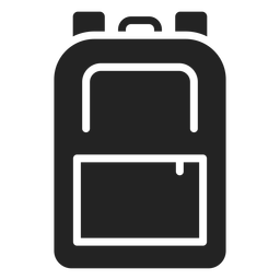 School backpack cut-out