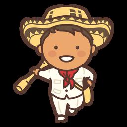 Traje tradicional colombiano para hombre plano
