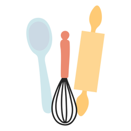 Kitchen utensils flat