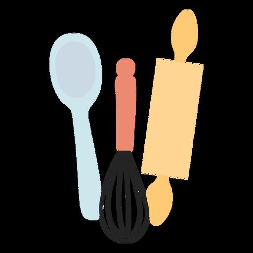 Kitchen utensils flat