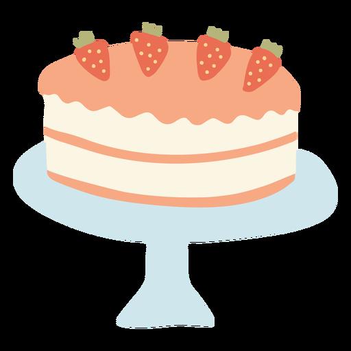 Strawberry cake flat