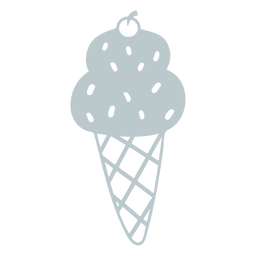 Ice cream sprinkles cut-out