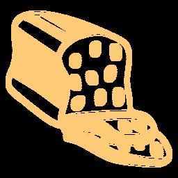 Trazo relleno de pan dulce