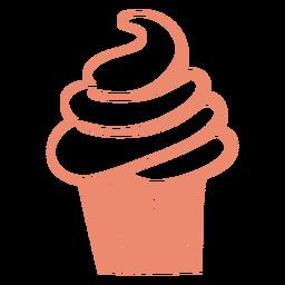 Trazo relleno de cono de helado