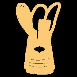 Suministros de cocina llenos de trazo