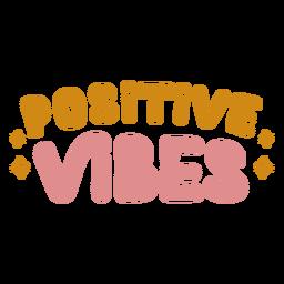 Letras de vibraciones positivas
