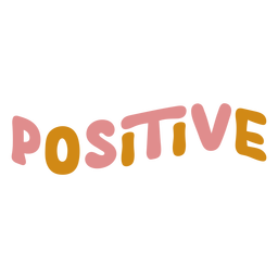 Positive word lettering
