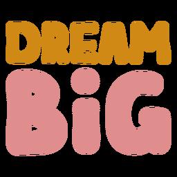Soñar con letras grandes
