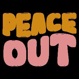 Letras de paz fuera