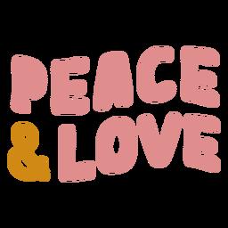Letras de paz y amor
