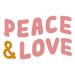 Peace and love lettering