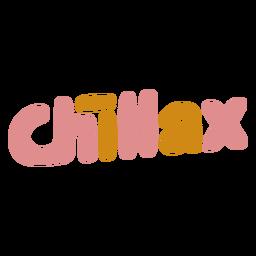 Letras de palavras chillax