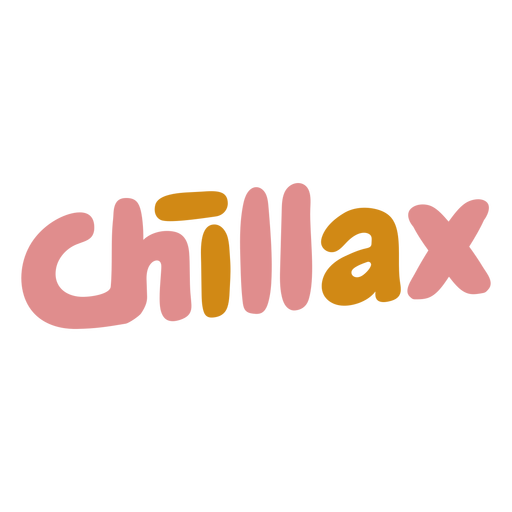 Chillax word lettering