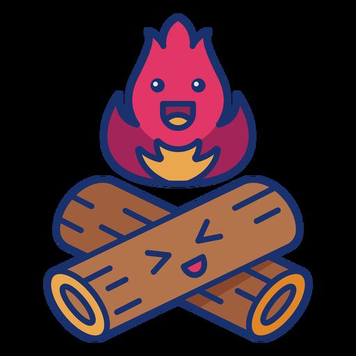 Happy bonfire semi-flat