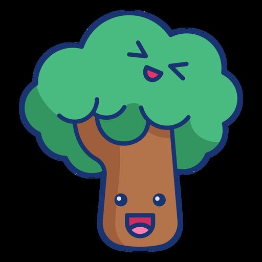 Happy tree semi-plano