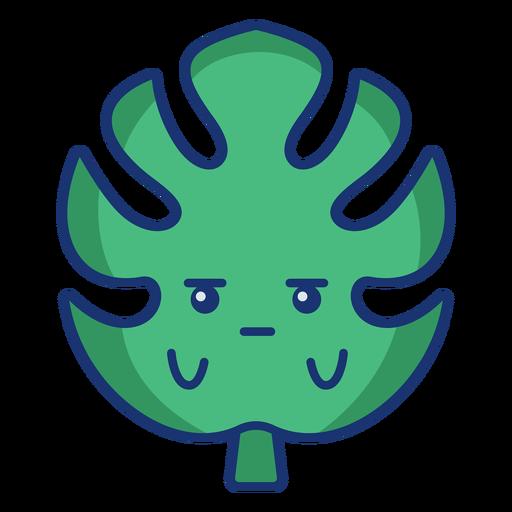 Dibujos animados de hoja verde