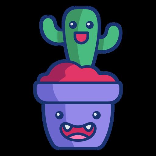 Dibujos animados de cactus feliz