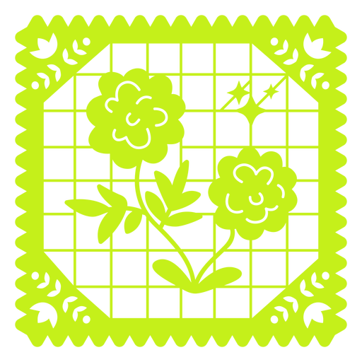 Floral design papel picado