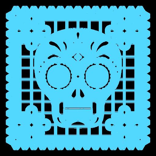 Skull design papel picado