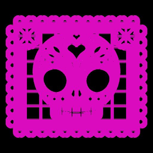 Skull style papel picado
