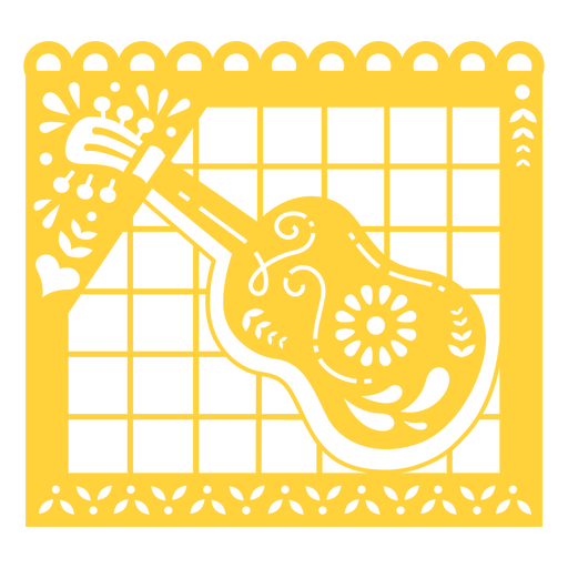 Guitar papel picado