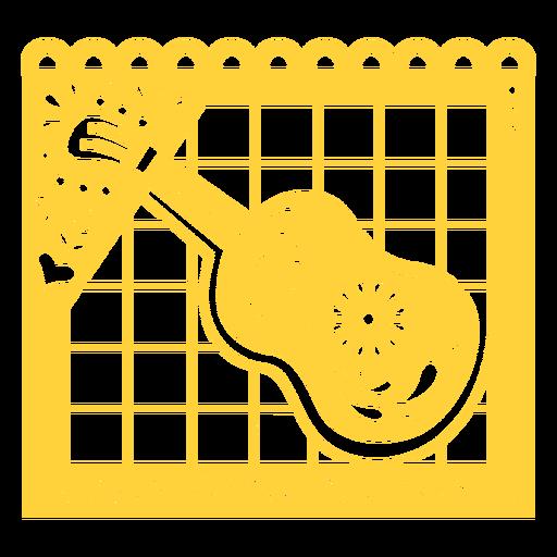 Guitarra papel picado