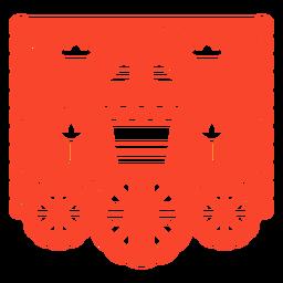 Cactus design papel picado