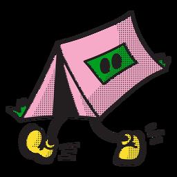 Doodle de tienda de campaña