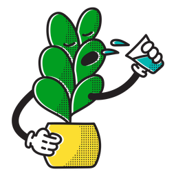 Thirsty plant doodle