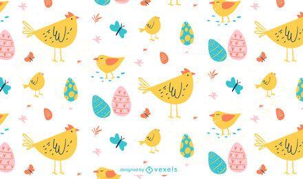 Diseño de patrón de animales de Pascua