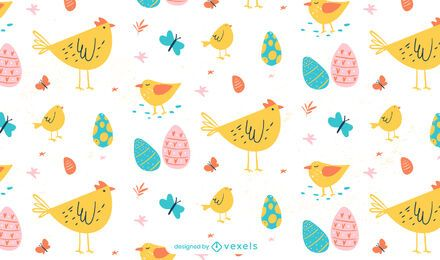 Easter animals pattern design