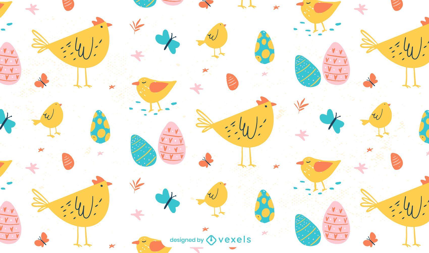 Easter animals pattern design