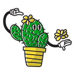 Pretty cactus doodle