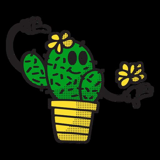 Pretty cactus doodle Transparent PNG