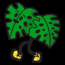 Green leaf doodle