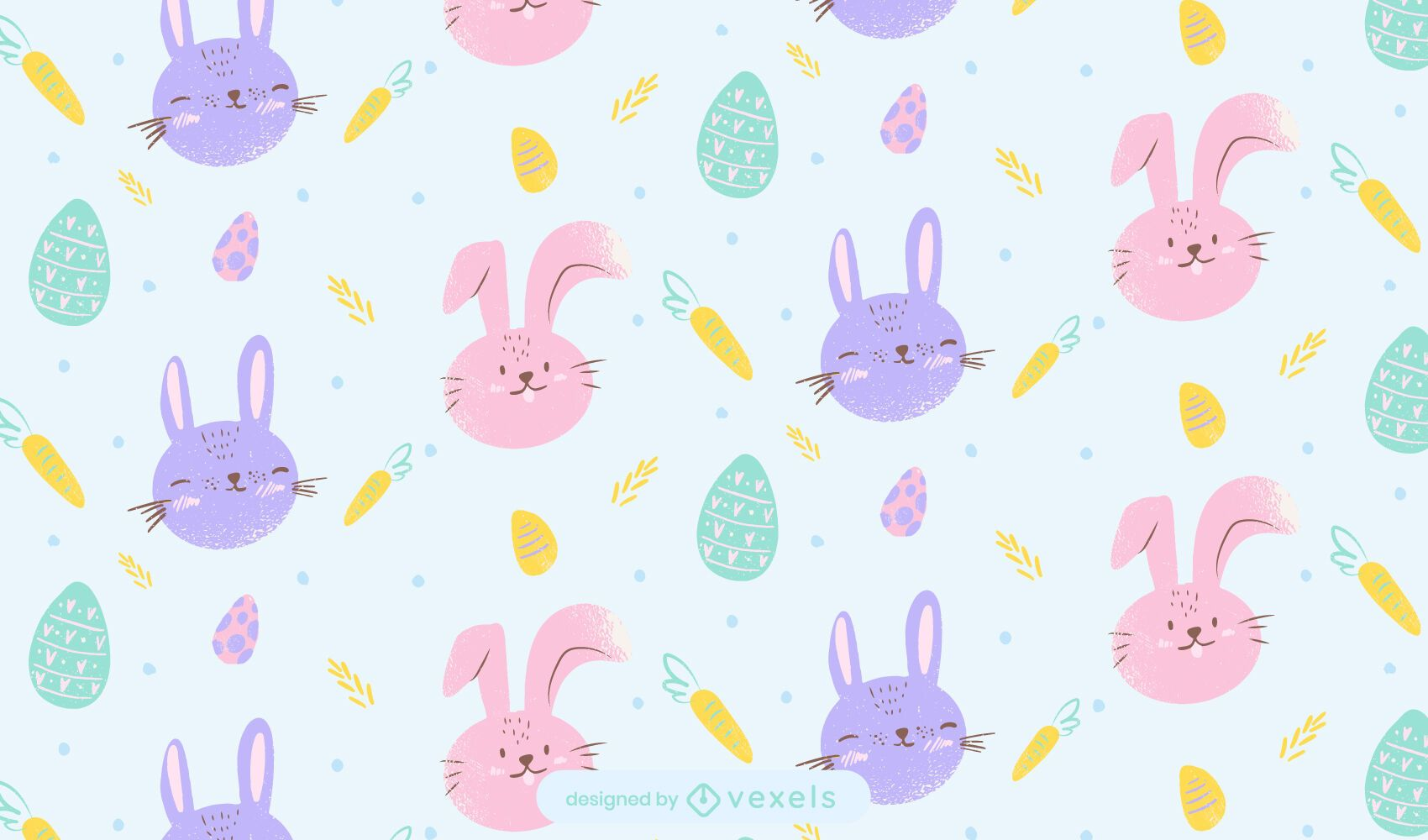 Cute easter bunnies pattern design