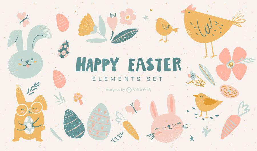 Easter doodle set