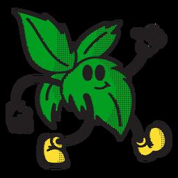 Palm leaves doodle