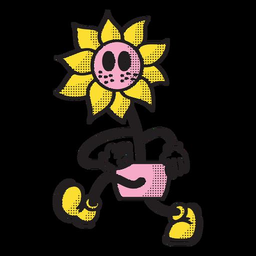 Walking sunflower doodle